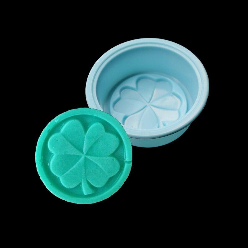 Lucky Clover Molde de Pastel de Silicona Molde Del Jabón Jabón Hecho A Mano 3d F