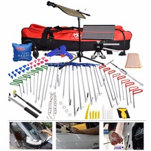 PDR Tools Rod Hooks Crowbar Dent Removal Paintless Dent Repair LED Lamp Reflector Board Hot Melt Glue Hand Tools Kit Ferramentas