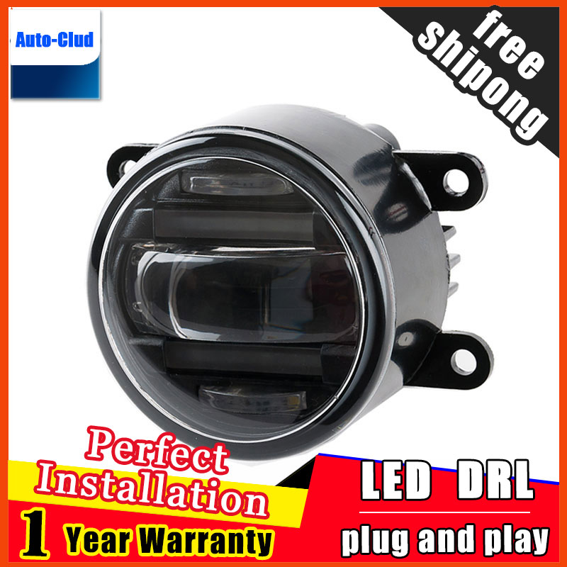 Car-styling LED fog light for Peugeot 301 2014-2016 LED Fog lamp with lens and LED daytime running ligh for car 2 function