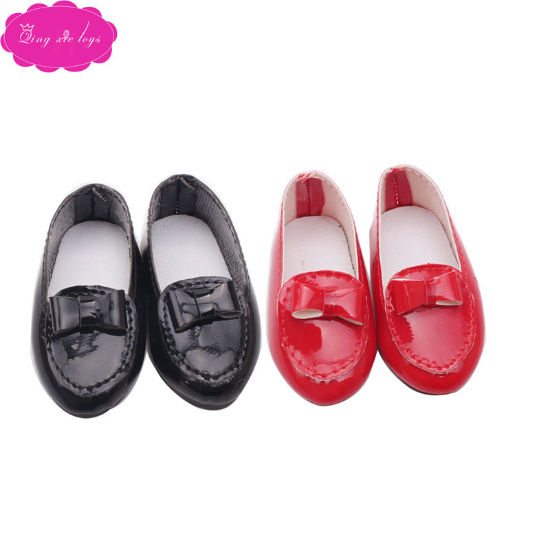 Doll shoes fashion pointed 2 color dress fit 16 inch Girl dolls and 14.5-inch doll accessories r23