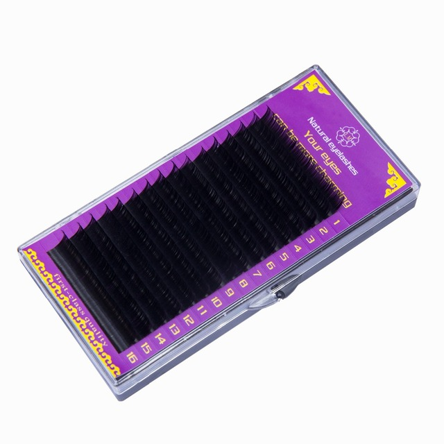 High quality 1 box curl BCD mink eyelash extension,individual eyelashes,natural eyelashes,fake false eyelashes 2