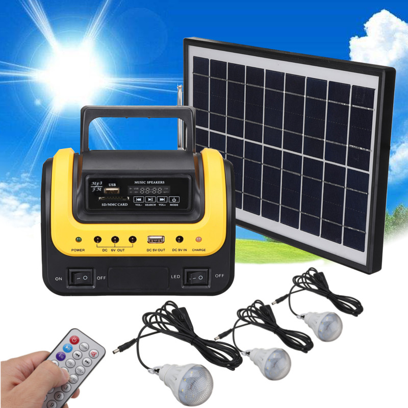 Solar Portable generator Emergency outdoor with radio MP3 solar flashlight mobile power supply for electronic products icoco 3 in 1 emergency charger flashlight hand crank generator wind up solar dynamo powered fm am radio charger led flashlight
