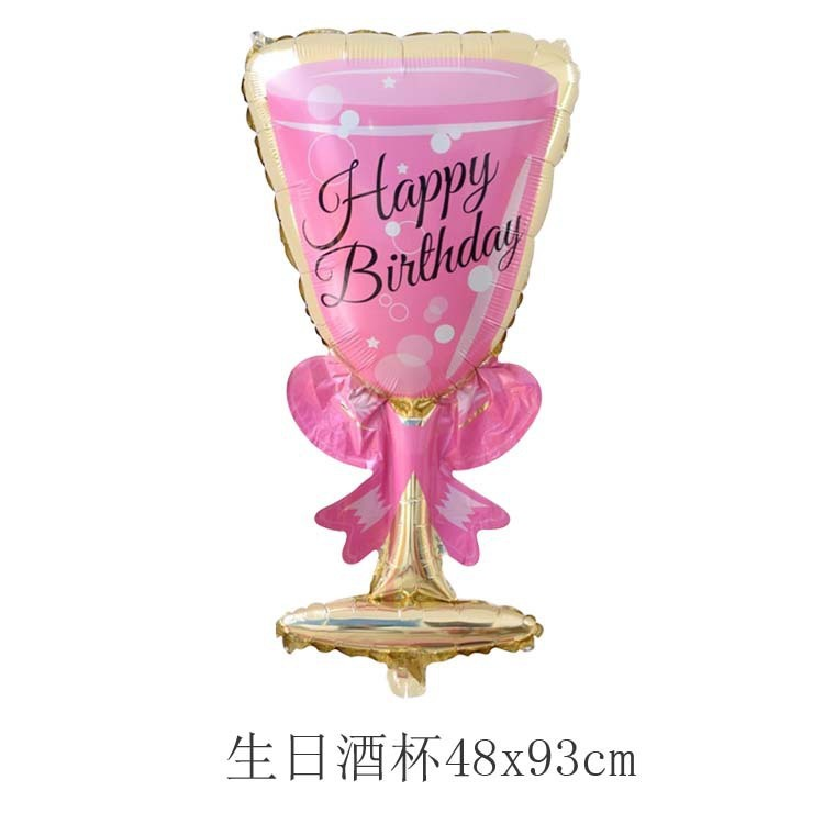 Champagne glass balloon birthday party decoration balloon bottle goblet shape letter balloon cijfer number folie ballonnen led in Ballons Accessories from Home Garden