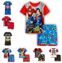 a47cf385cf6 Baby Boy Girl Cartoon Spiderman Minnie Lackey children s sleepwear pajamas  for kids Children s pajamas summer Short