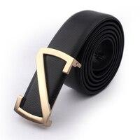 2016 New Quality Luxury Belts Mens Cow Leather Belt Brand Designer Belts For Men Belts Gold
