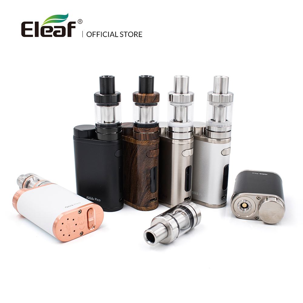 Original Eleaf IStick Pico Kit With 2ml MELO III Mini Atomizer Or 4ml Melo 3 Atomizer Output 75W Box Mod In EC Head E-Cigarette