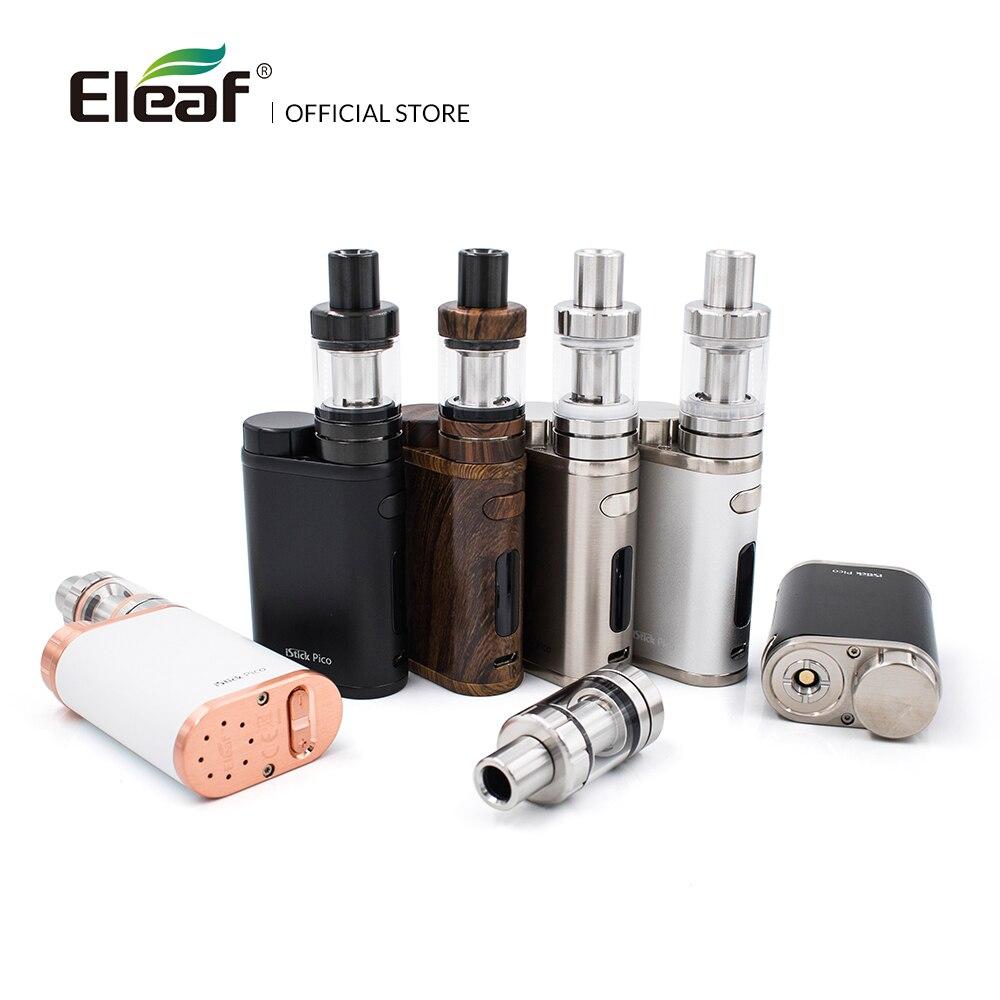 Originale Eleaf iStick Pico Kit con 2 ml MELO III Mini Atomizzatore O 4 ml Melo 3 Atomizzatore Uscita 75 w Box Mod in Testa E-Sigaretta EC