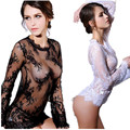 Women intimates black and white lace slips hot perspective lace slip