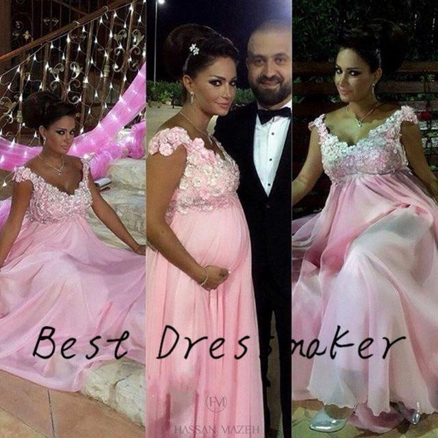 Rosa claro Vestidos de Noche Elegantes Para Las Mujeres Embarazadas ...