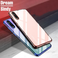 Luxury Soft Silicone Plating Cases For Huawei P20 Lite P20 Pro TPU Transparent Back Cover For Huawei P20 Lite Phone Shell Coque
