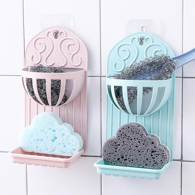Bathroom Kitchen Shower Soap Box Dish Storage Plate Tray Holder Case Soap Holder household items Bathroom Accesoires Shelf *70