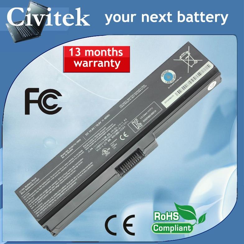 Batería de laptop para Toshiba Satellite A660 C650 C650 C660 L510 L630 L640 U600 U400 PA3817U-1BRS PA3816U-1BAS PA3818U-1BRS