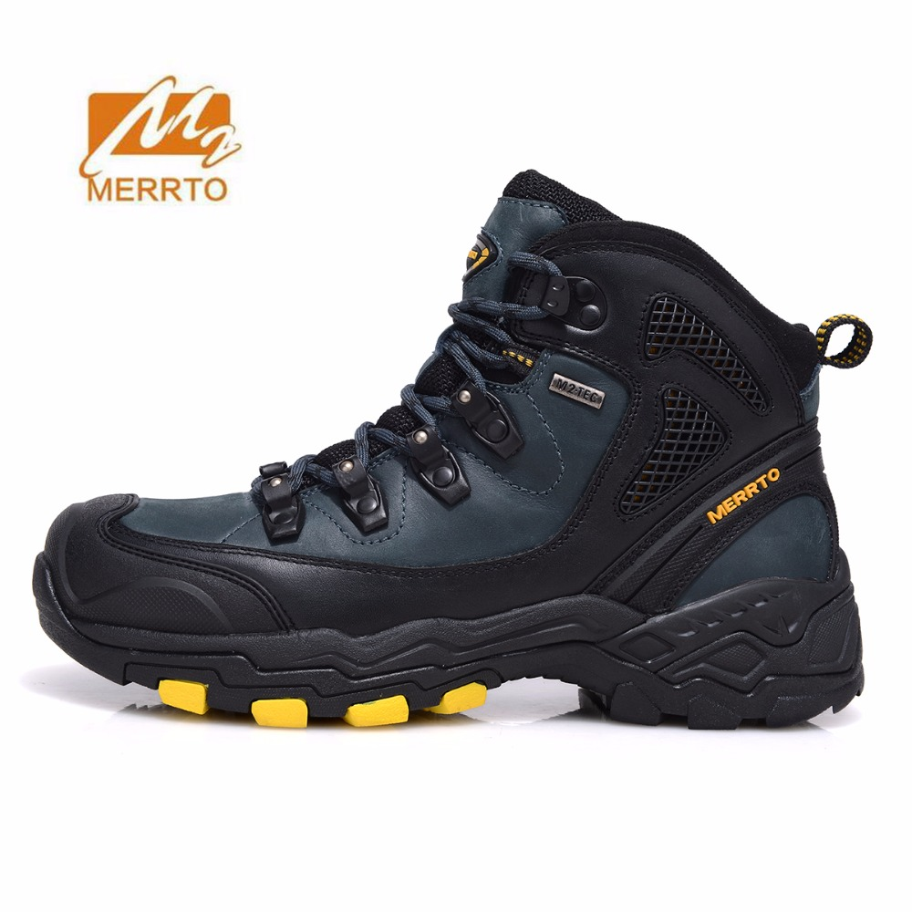 MERRTO Men's Winter Waterpoof Hiking Trekking Sneakers Shoes Boots For Men Winter Climbing Mountain Boots Shoes Sneakers Man humtto new hiking shoes men outdoor mountain climbing trekking shoes fur strong grip rubber sole male sneakers plus size