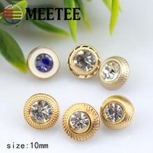 30pcs 10mm Rhinestones decration shirt metal buttons