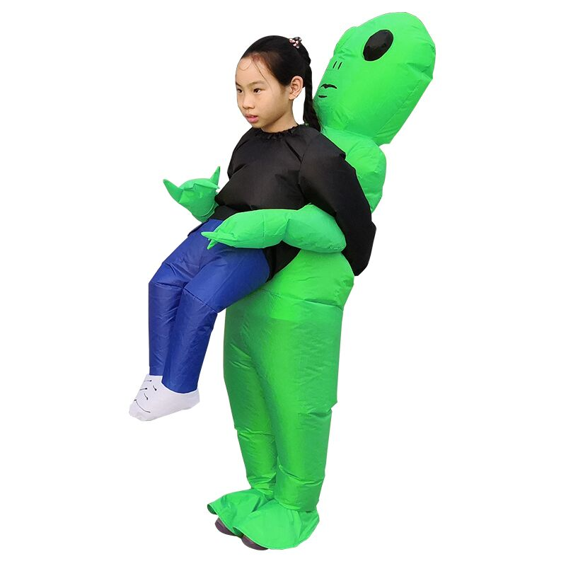 Nuevo Purim miedo Alien verde Cosplay mascota inflable traje de monstruo fiesta Cosplay traje de Halloween para los niños