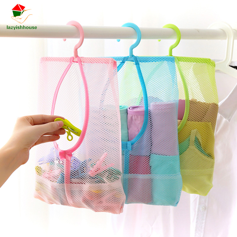 New Qualified 2017 Storage bag 1pc Kitchen Bathroom Clothesline Storage Dry Doll Shelf Mesh Bag Hook Storage Mesh Bag Organiser
