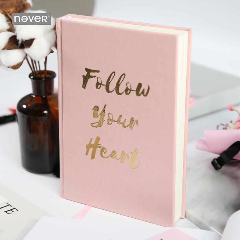 Jamais rose série épais cahier cahiers et revues ligne planificateur boîte cadeau emballage pour filles cadeau papeterie fournitures scolaires