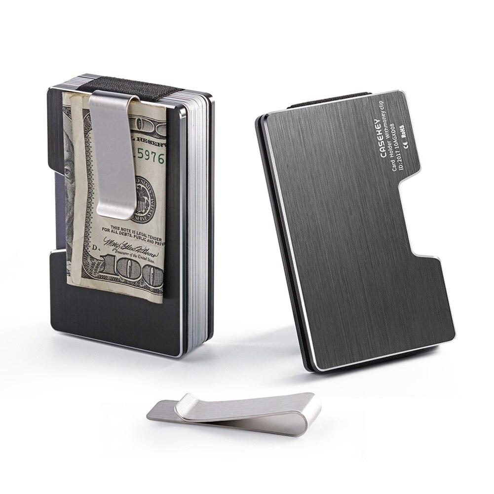 Männer Aluminium Alloy Brieftasche Geld Brieftasche Rfid Blocking Schlank Bargeld Kreditkarte Halter Geldbörse Neue Card & Id Halter