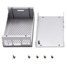 Neueste Aluminium Legierung Shell Fall Gehäuse Box Für Raspberry Pi 4 Programmierbare Spielzeug Für Kinder Erwachsene-Silber