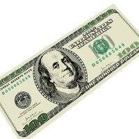 100 US Dollars Carpets For Living Room Hallway Money Rubber Door Pad Carpet Pad 600g Mats