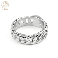 VR109 Jewelry For Women 2017 VCOOL Biker Chain Ring Titanium Punk Men Charm Jewelry Bicycle Rings