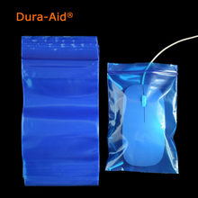 500pcs/lot blue color Self Sealing Plastic Bags, small plastic ziplock bags Premium Poly Flat Red Plastic Zip Lock Pouches(China)