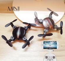 New 200W pixelate Fold Mini Aircraft Vehicle Toys Automatic Return Headless Mode 2 4G 4CH 4