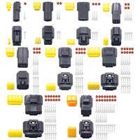 Conector de cable eléctrico sellado automático, resistente al agua, para coche y camión, 2/3/4/6/8/10 Pines, 5 Juegos