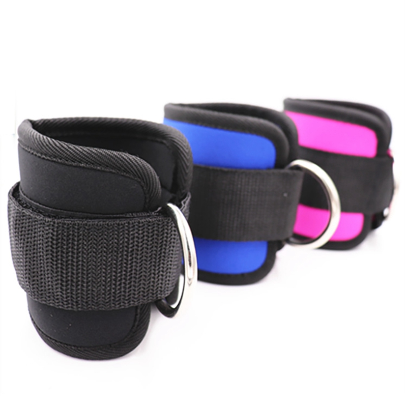 Ankle Straps Nylon Rubber Leg Training Pull Rope Resistance Band Cover Wrap For Gym Fitness 1 PairAnkle Straps Nylon Rubber Leg Training Pull Rope Resistance Band Cover Wrap For Gym Fitness 1 Pair