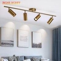 Moderne Wohnzimmer Decke Leuchte Nordic Drehbare LED Decke Lampen für shop Spot Küche Decke Lichter GU10 birne-in Pendelleuchten aus Licht & Beleuchtung bei
