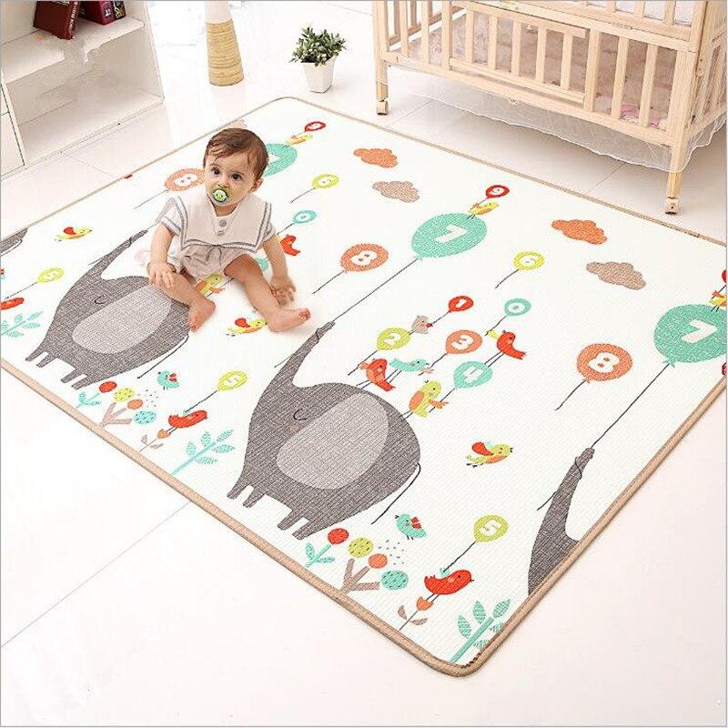 Tapis de jeu rampant pour bébé épaissir la Protection de l'environnement tapis de mousse pour enfants couverture de jeu humidité XPE bébé tapis d'escalade cadeaux