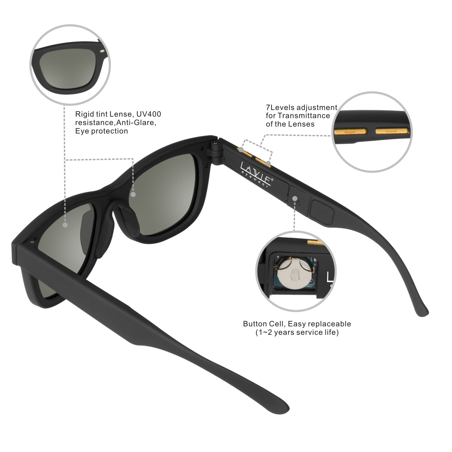 2019 Electronic Adjustable Dimming Sunglasses LCD Original Design Liquid Crystal Polarized Lenses Factory Direct Supply