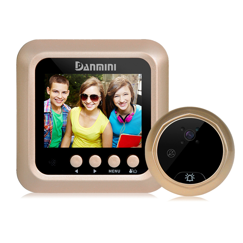 DANMINI 2.4 LCD Digital Door Camera Peephole Viewer Video Record IR Night Vision Video Doorbell 160 Degrees Camera Doorbell New original danmini 3 0 tft lcd color screen door peephole viewer ir led night vision light doorbell 145 degrees view angle system
