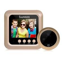 DANMINI 2.4″ LCD Digital Door Camera Peephole Viewer Video Record IR Night Vision Video Doorbell 160 Degrees Camera Doorbell New
