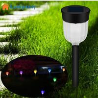 LumiParty 4PCS 6PCS Outdoor Solar Powered LED Lawn Pin Lamp Waterproof Garden Light Festival Yard Decoration