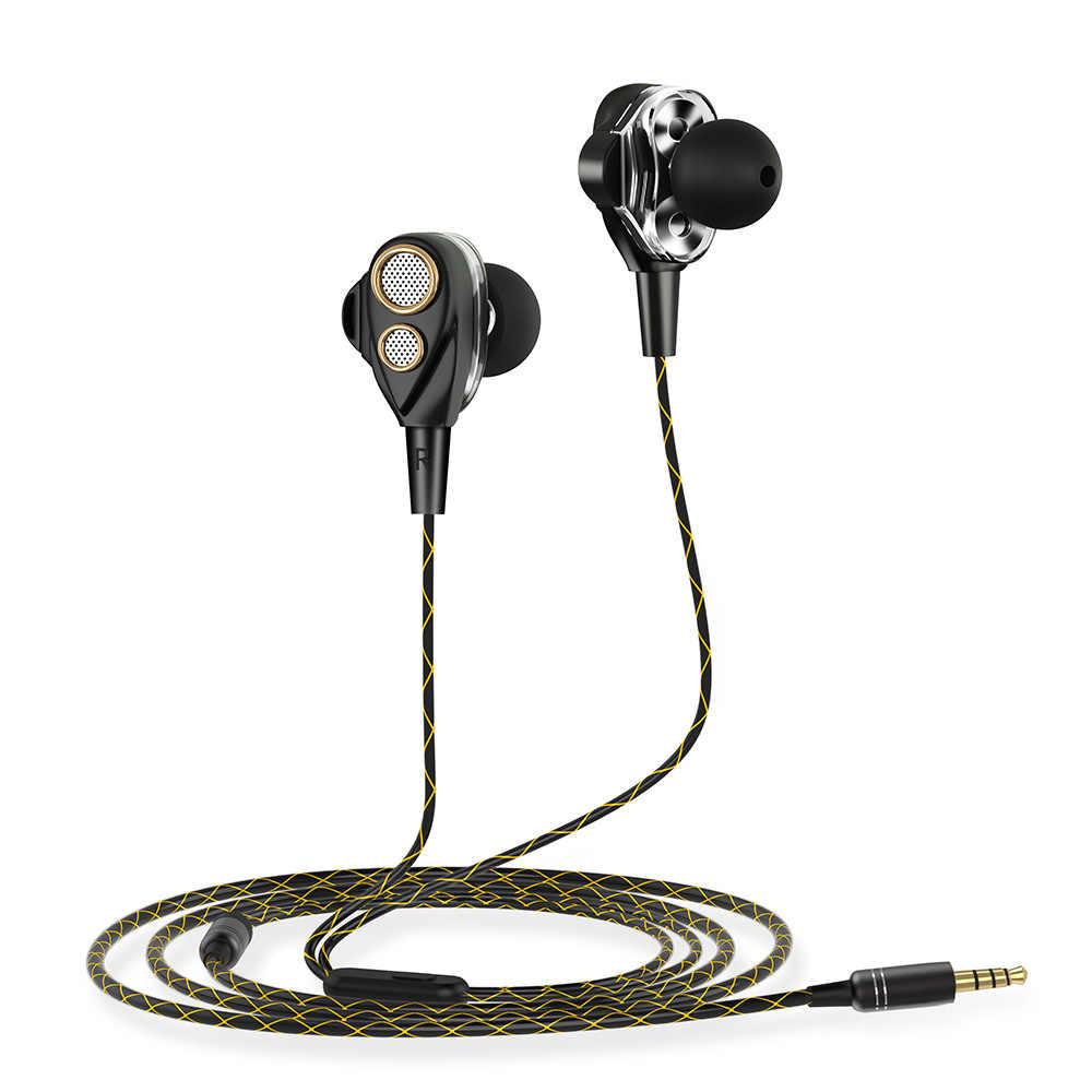 Słuchawki, w ucho słuchawki douszne z mikrofonem, potrójnych sterowników słuchawki z hałasu izolowanie i Stereo bas dla telefonów z systemem IOS/Android