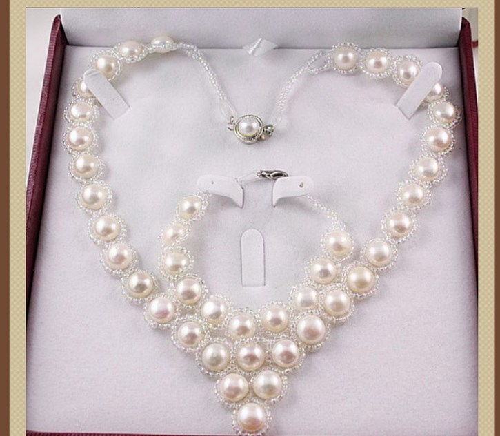 Hot Cheap Real Freshwater Cultured Natural Pearl Necklace Bracelet