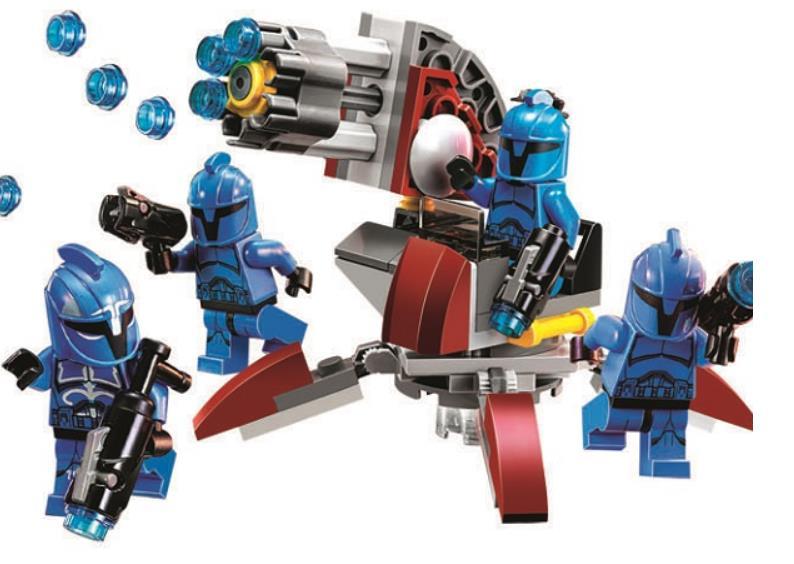 BELA 10367 Star Wars Series Senate Commando Trooper Building Blocks Toys For Children Compatible with Lepin 75088 Bricks gift