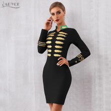ADYCE 2019 New Spring Bandage Dress Long Sleeve Sexy Mini Club Dress Vestidos