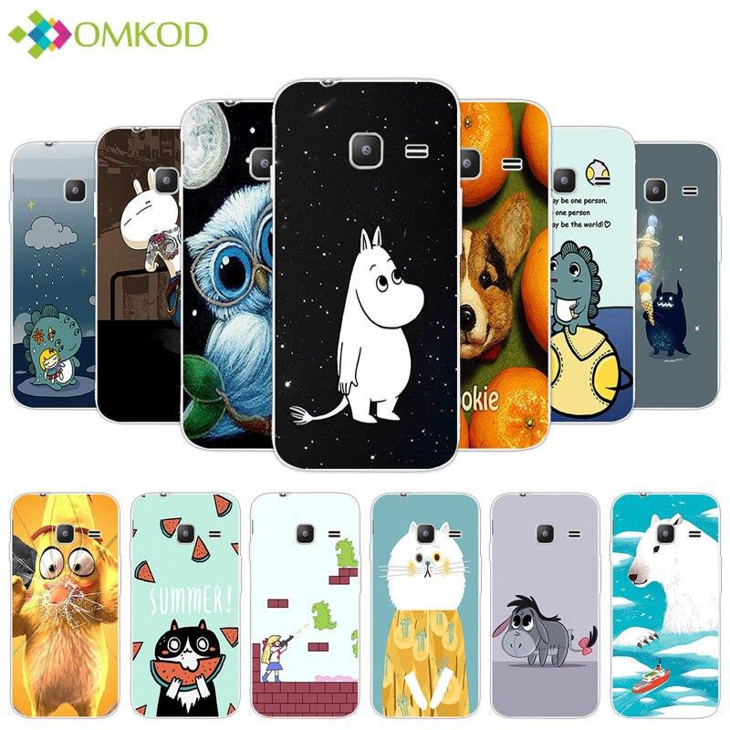 for Samsung Galaxy J1 Mini 2016 Phone Case 4.0 Silicon Fundas Coque for Samsung Galaxy J1Mini J105F J105H Cute Hippo Back Cover