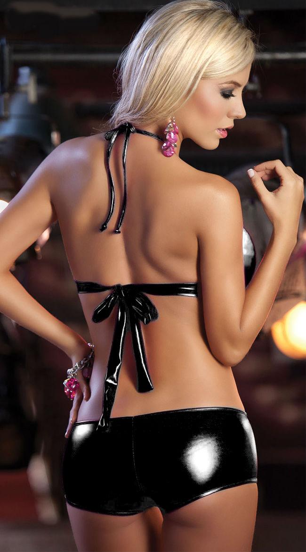 M-XXL, сексуальные женские комплекты нижнего белья, черный, золотой, серебряный, искусственная кожа, эротический комплект с бюстгальтером + тр... 13