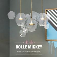 Modern Led Lighting Glass Globe Chandelier Luminarias Hanging Lamp Pendant Clear Droplight