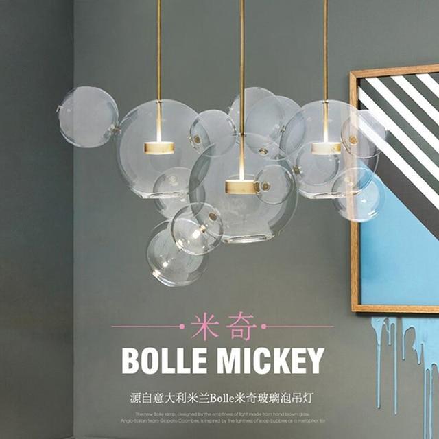 Modern Led Lighting Glass Globe Led Chandelier Luminarias Hanging Lamp Led Pendant Chandelier Lighting Clear Globe Droplight