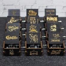 Креативная антикварная резная деревянная игра престолов музыкальная шкатулка, Красавица и Чудовище рождественский подарок, новогодний подарок, подарок на день рождения