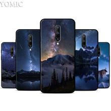 Starry Sky Moon Stars Mountain Silicone Case for Oneplus 7 7Pro 5T 6 6T Black Soft Case for Oneplus 7 7 Pro TPU Phone Cover