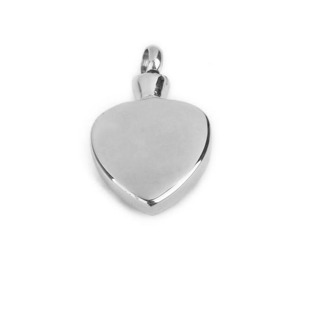 Steel Heart Urn Pendant