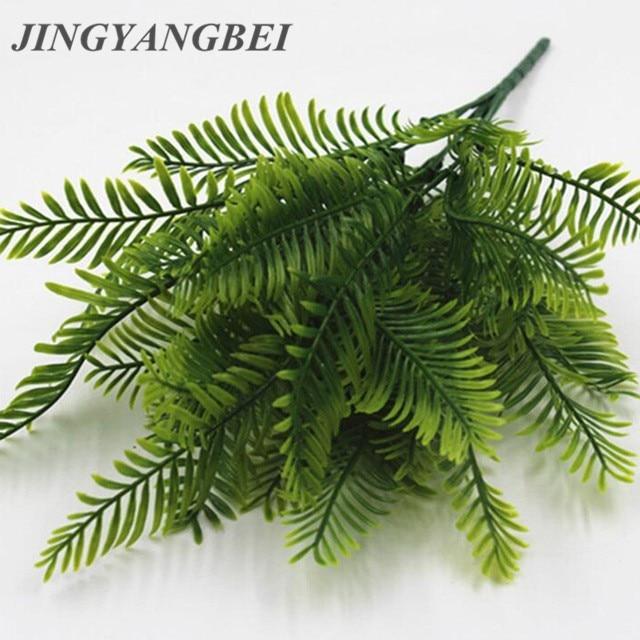 Купить со скидкой 1Pcs Artificial Flower Leaves Plants Pretty Fake Lifelike Plastic Persian Grass Lysimachia Fern flor