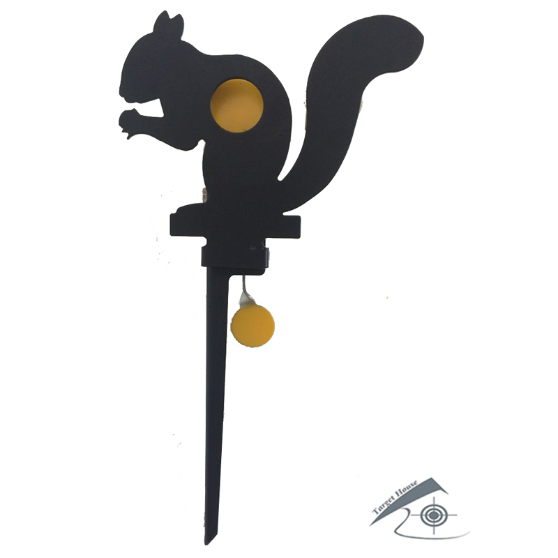 Airgun Squirrel Field Target W 2 Hidden Bullseyes' Ring/Also For Airsoft Paintball /Improving HuntingShootingTacticalSkill