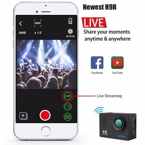 Image 2 - Original EKEN H9 H9R Ultra HD 4K 30fps Action Kamera 30m wasserdichte 2 zoll LCD Bildschirm Wi Fi remote Gehen Extreme pro Sport Kamera
