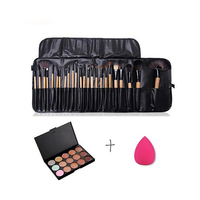 Makeup Set 15 Color Makeup-up Concealer Platte Base and 24pcs Makeup Brushes set Cosmetic Kit Sponge Puff Tool